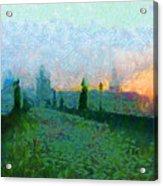 Charles Bridge At Dawn Acrylic Print by Peter Kupcik
