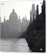 Charles Bridge At Early Morning Acrylic Print by Michal Boubin