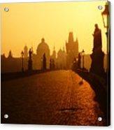 Charles Bridge Prague At Sunrise Acrylic Print