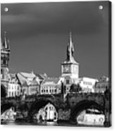 Charles Bridge Prague Czech Republic Acrylic Print by Matthias Hauser