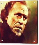 Charles Bukowski, Literary Legend Acrylic Print