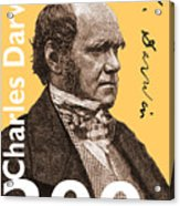 Charles Darwin 200 Yellow Acrylic Print