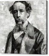 Charles Dickens Author Acrylic Print