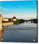 Charle's Or Carl's Bridge View In Prague Acrylic Print