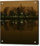Charles River At Night Acrylic Print