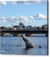 Charles River Boston Ma Crossing The Charles Citgo Sign Mass Ave Bridge Acrylic Print