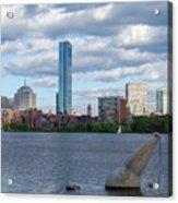 Charles River Boston Ma Crossing The Charles Acrylic Print