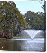 Charles Towne Landing Fountain Acrylic Print