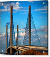 Charles W Cullen Bridge South Approach Acrylic Print