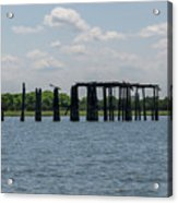 Charleston Export Coal Terminal Wooden Testle Acrylic Print
