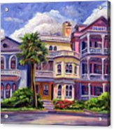Charleston Houses Acrylic Print