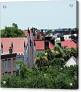 Charleston Rooftops - Queen And Church Streets Acrylic Print
