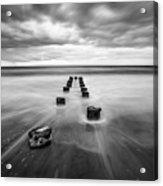 Charleston Sc Folly Beach Seascape Photography Acrylic Print