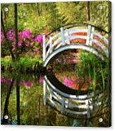 Charleston Sc Magnolia Plantation Spring Blooming Azalea Flowers Garden Acrylic Print