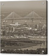 Charleston South Carolina Aerial Acrylic Print by Dustin K Ryan