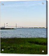 Charleston South Carolina Waterfront Park During Sunset Acrylic Print
