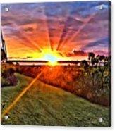 Charleston Sunset Acrylic Print