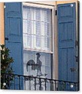 Charleston Weathervane Reflection Acrylic Print