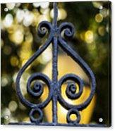 Charleston Wrought Iron Acrylic Print