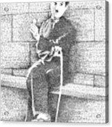Charlie Chaplin In His Own Words Acrylic Print
