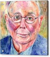 Charlie Munger Painting Acrylic Print