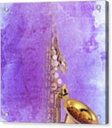 Charlie Parker Saxophone Purple Vintage Poster And Quote, Gift For Musicians Acrylic Print