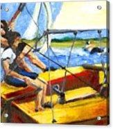 Charlies Race Boat Acrylic Print