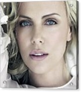 Charlize Theron Blue Eyed Blonde Blouse Celebrity Hollywood 31116 640x960 Acrylic Print