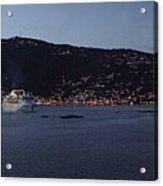 Charlotte Amalie At Dusk Acrylic Print by Gary Lobdell