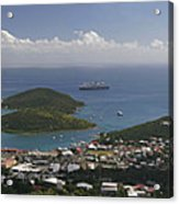 Charlotte Amalie From Above Acrylic Print