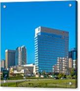 Charlotte North Carolina Cityscape Of Downtown Acrylic Print