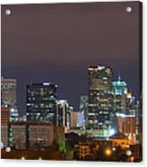 Charlotte Skyline 2012 Acrylic Print by Brian Young