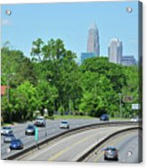 Charlotte Skyline From A Distance Acrylic Print