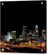 Charlotte Skyline Panoramic Acrylic Print