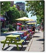 Charlottetown Street Scene Acrylic Print