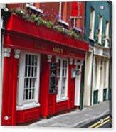 Charming Narrow Street In Kinsale Acrylic Print