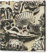 Charming Seashore Symbols Acrylic Print