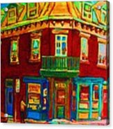 Charming Store  On The Corner Acrylic Print