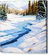 Charming Winter Acrylic Print