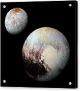 Charon And Pluto Enhanced Acrylic Print