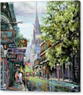 Chartres Rain Acrylic Print