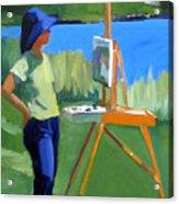 Charyl Painting At Pope John Paul II Park Acrylic Print