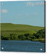 Chase Lake Pano 1 Acrylic Print