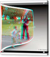 Chasing Bubbles - Use Red-cyan 3d Glasses Acrylic Print
