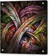 Chasing Colors - Fractal Art Acrylic Print