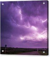 Chasing Nebraska Lightning 012 Acrylic Print
