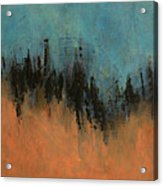 Chasing Stories Abstract Painting Acrylic Print