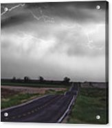 Chasing The Storm - Bw And Color Acrylic Print