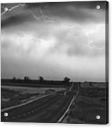 Chasing The Storm - County Rd 95 And Highway 52 - Colorado Acrylic Print