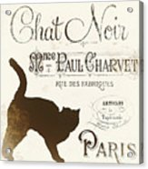 Chat Noir Paris Acrylic Print